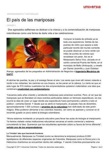 El país de las mariposas - Noticias - Universia