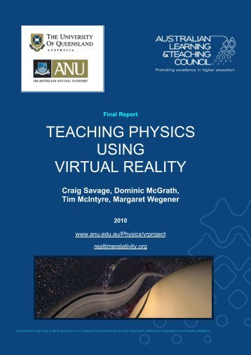 teaching physics using virtual reality - Office for Learning and ...