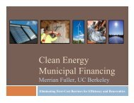 Clean Energy Municipal Financing - Precourt Energy Efficiency Center