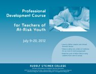 Professional Development Course for Teachers of At-Risk Youth