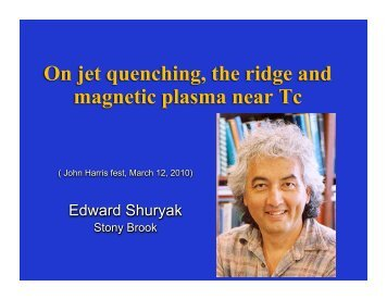 On jet quenching, the ridge and magnetic plasma near Tc