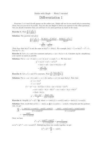 Differentiation 1 - Neil Strickland