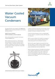Water Cooled Vacuum Condensers - Hamworthy