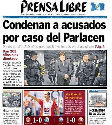 Penas de 17 a 210 años para los 8 implicados en el ... - Prensa Libre