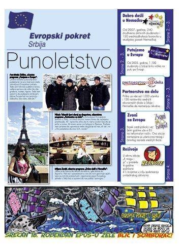 Podlistak 1 Objavljen 23. 12. 2010. - Evropski pokret u Srbiji