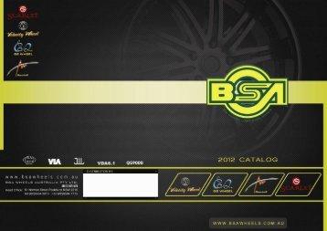 BSA 2012 Catalogue