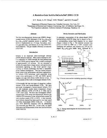 A resistive-gate InAlAs/InGaAs/InP 2DEG CCD ... - Eric Fossum