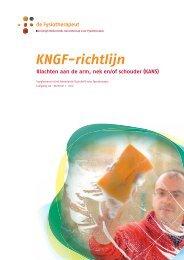 KNGF-richtlijn Klachten aan de arm, nek en/of schouder (KANS)