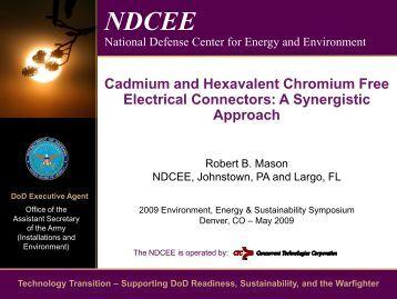 Cadmium and Hexavalent Chromium Free Electrical ... - E2S2