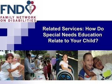 Related Services - The Family Network on Disabilities of Florida