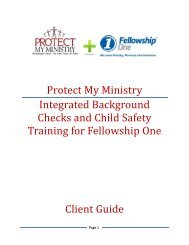 Protect My Ministry Integrated Background Checks and Child Safety ...