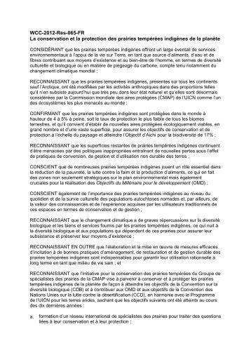 WCC-2012-Res-065-FR La conservation et la ... - IUCN Portals