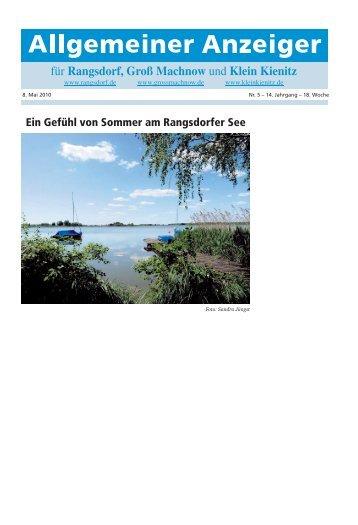 Ein Gefühl von Sommer am Rangsdorfer See - Rangsdorf - in der ...