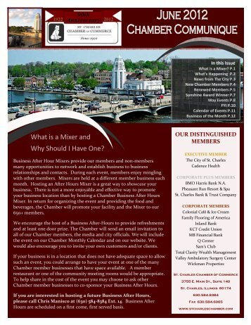 June 2012 Newsletter.pub - St. Charles Chamber of Commerce