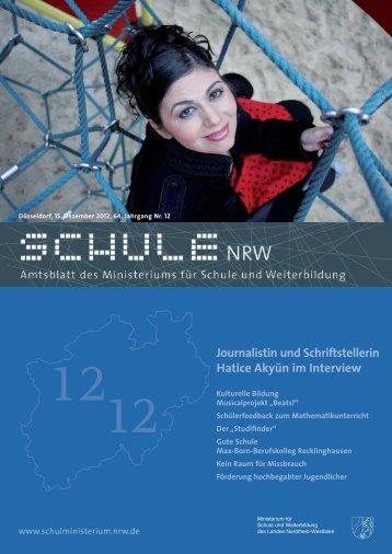 Journalistin und Schriftstellerin Hatice Akyün im ... - schul-welt.de