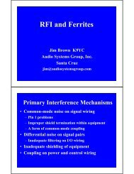 Understanding and Eliminating RF Interference - Audio Systems ...