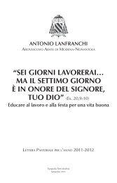 Antonio Lanfranchi - LETTERA PASTORALE - Webdiocesi