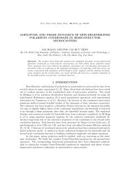 amplitude and phase dynamics of spin-degenerated polariton ...