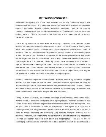 Statement of teaching philosophy employment statement of teaching philosophy maxwellsz