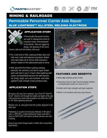 Permissible Personnel Carrier Axle Repair MINING & RAILROADS