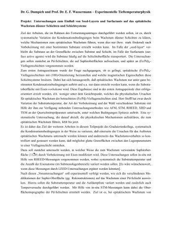 Untersuchungen zum Einfluß von Seed-Layern und Surfactants auf ...