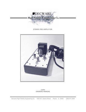 Owners Manual.pdf - Decware