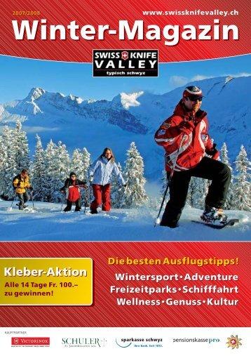 Winter-Magazin - Zentralschweizer Tourismus