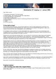 Håndværket: 87. årgang, nr. 1. januar 2009 Vi har ... - Håndværksrådet