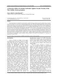A Protective Effect of Calcium Carbonate Against Arsenic Toxicity of ...