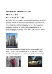 Besuch unserer Partnerschule in Rezé  22. bis 25.11.2011 Comenius