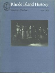 May - Rhode Island Historical Society