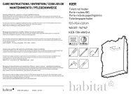 kier care instructions / entretien / cosejos de mantenimiento - Habitat