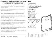 kier care instructions / entretien / cosejos de mantenimiento - Habitat