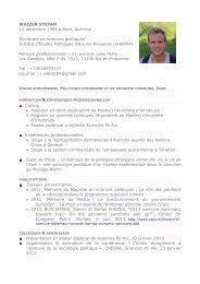 WAIZER Stefan - Sciences Po Aix