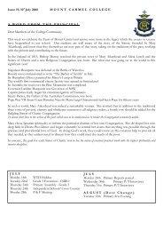Bulletin, Issue 19, 2008 - Mount Carmel College