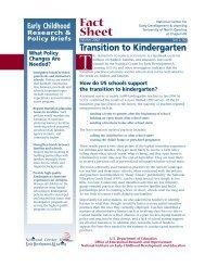 Transition to Kindergarten - PA Keys