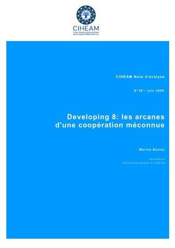 Developing 8: les arcanes d'une coopération méconnue
