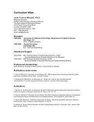 Curriculum Vitae - Systems Neurobiology Laboratory - Salk Institute ...
