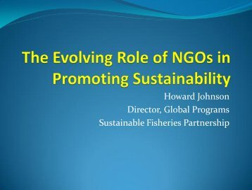 Howard Johnson - Pacific States Marine Fisheries Commission