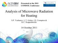 Analysis of Microwave Radiation for Heating - COMSOL.com