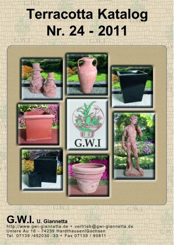 Terracotta Katalog Nr. 24 - 2011 - GWI Giannetta