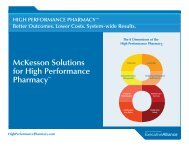 McKesson Solutions for High Performance PharmacySM