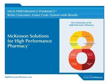 McKesson Solutions for High Performance PharmacySM