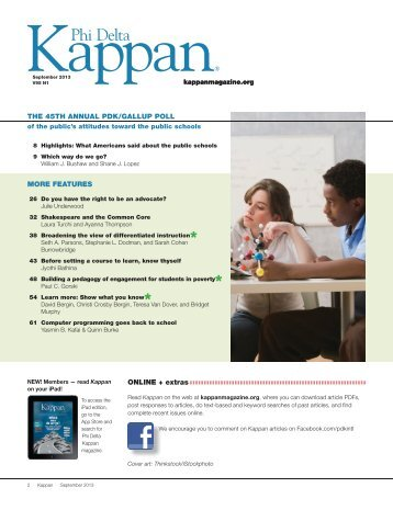 phi delta kappan article Manage 'human capital' strategically managing people wisely should be at the core of all district improvement work by allan odden all articles published in phi delta kappan are protected by copyright for permission to use or reproduce kappan articles, please e-mail.