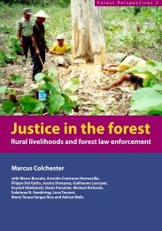 Justice in the forest - Center for International Forestry Research