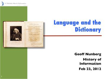 Language and the Dictionary! - Courses