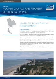 Hua Hin, CHa am, and Pranburi residential rePort - Colliers