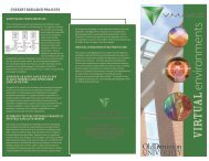 Brochure 8 - the Virginia Modeling, Analysis and Simulation Center