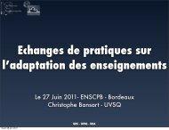Le 27 Juin 2011- ENSCPB - Bordeaux ... - IUT Bordeaux 1...