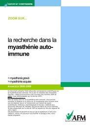 la recherche dans la myasthénie auto- immune - AFM - Groupe ...
